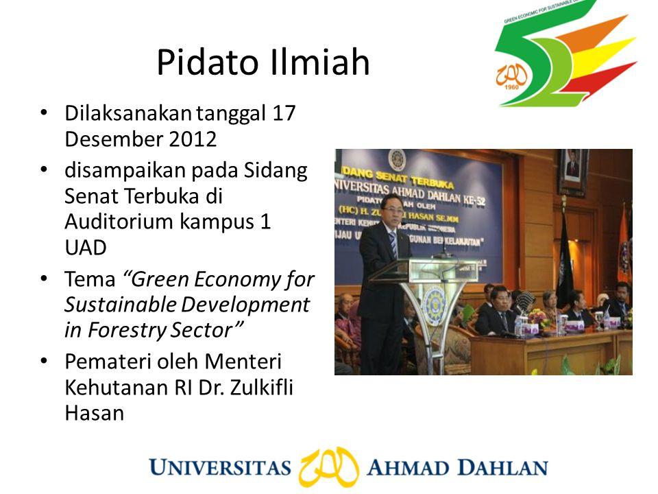 Pidato Ilmiah Dilaksanakan tanggal 17 Desember 2012
