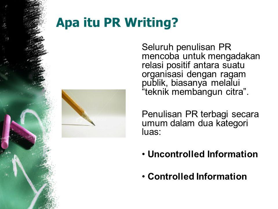 Apa itu PR Writing