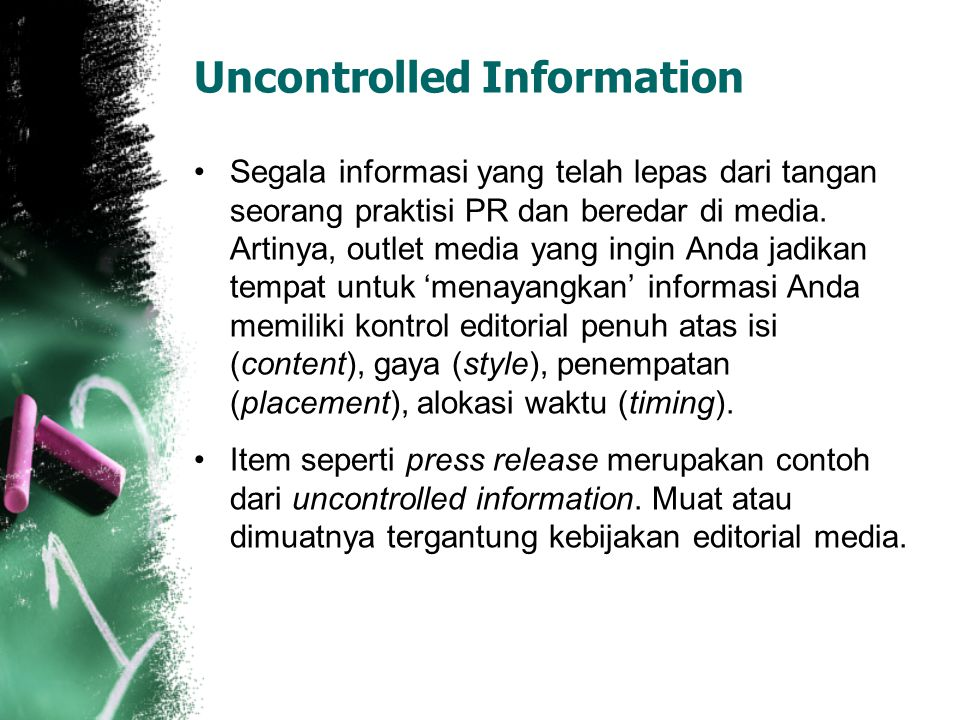 Uncontrolled Information