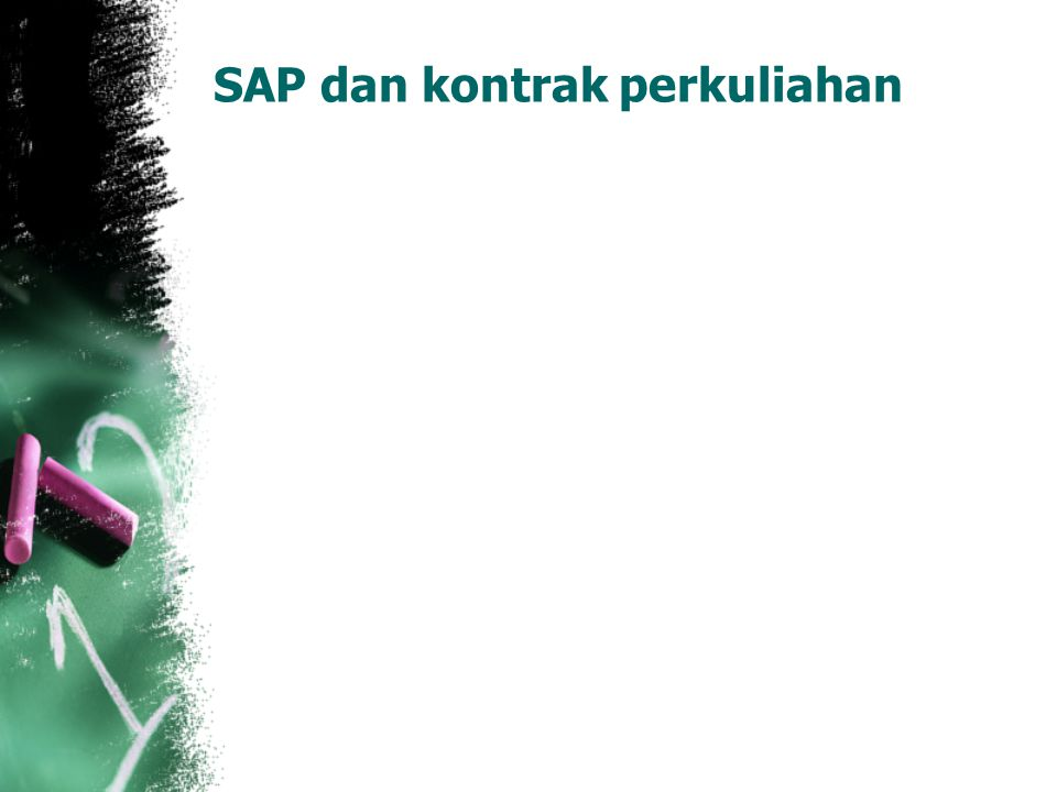 SAP dan kontrak perkuliahan