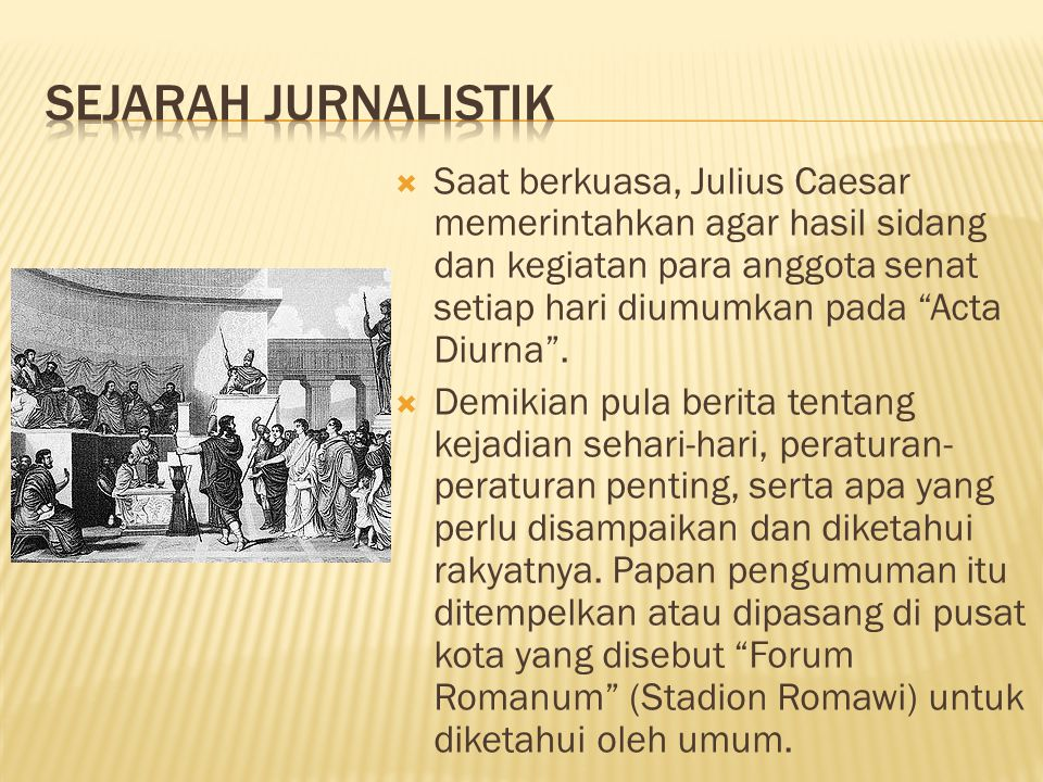 Sejarah Jurnalistik