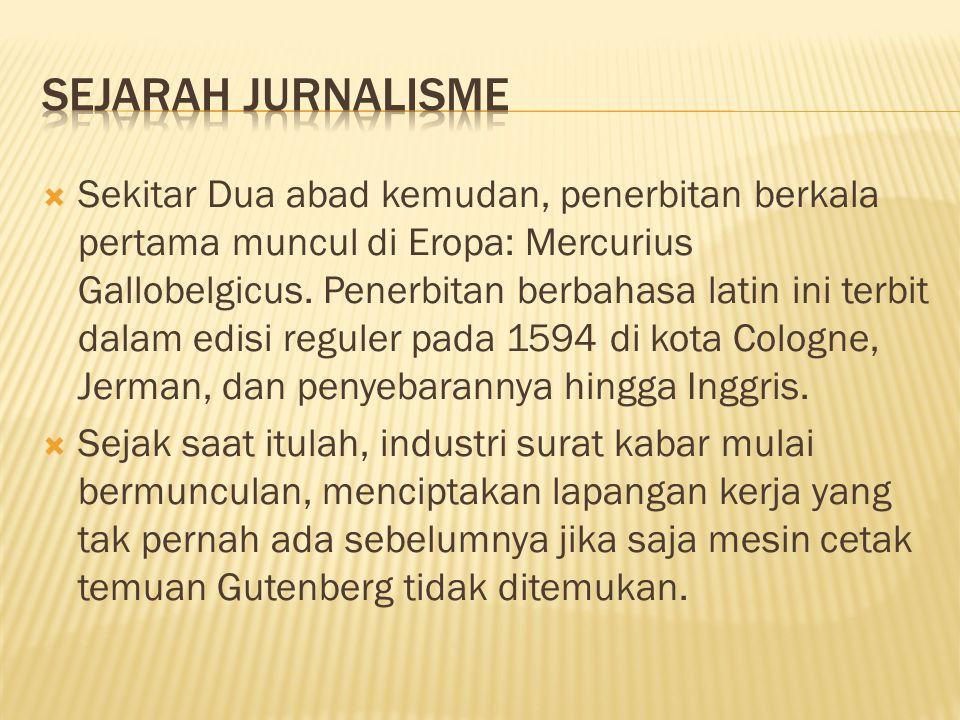 Sejarah Jurnalisme