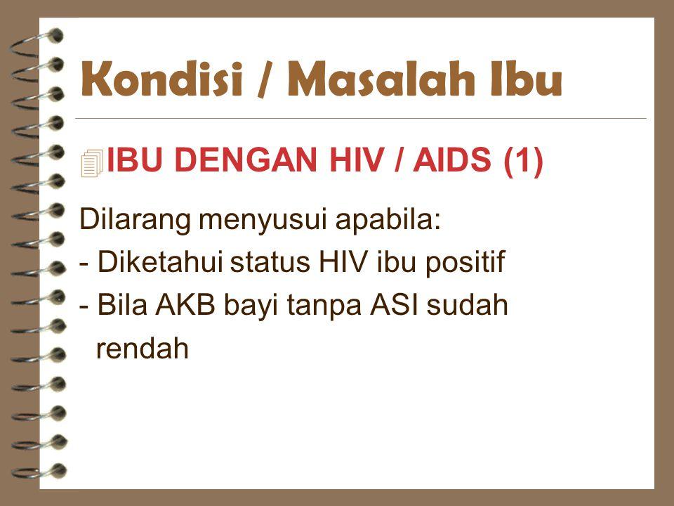 Kondisi / Masalah Ibu IBU DENGAN HIV / AIDS (1)