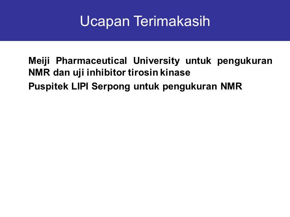 Ucapan Terimakasih Meiji Pharmaceutical University untuk pengukuran NMR dan uji inhibitor tirosin kinase.