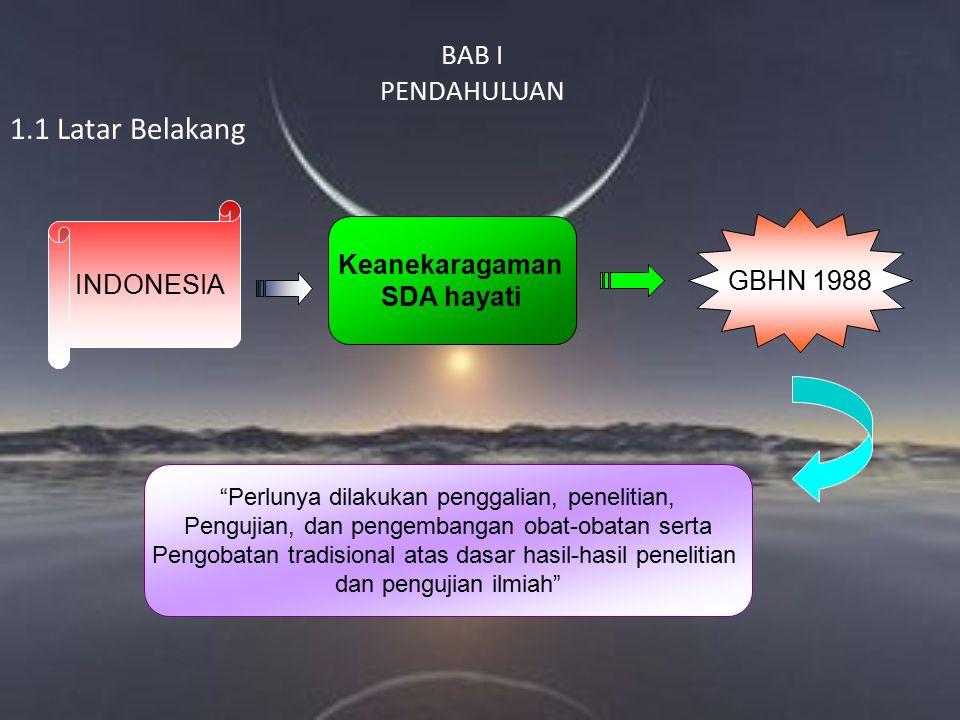 1.1 Latar Belakang BAB I PENDAHULUAN INDONESIA Keanekaragaman