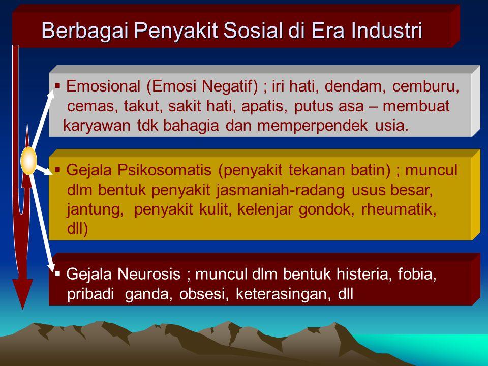Berbagai Penyakit Sosial di Era Industri