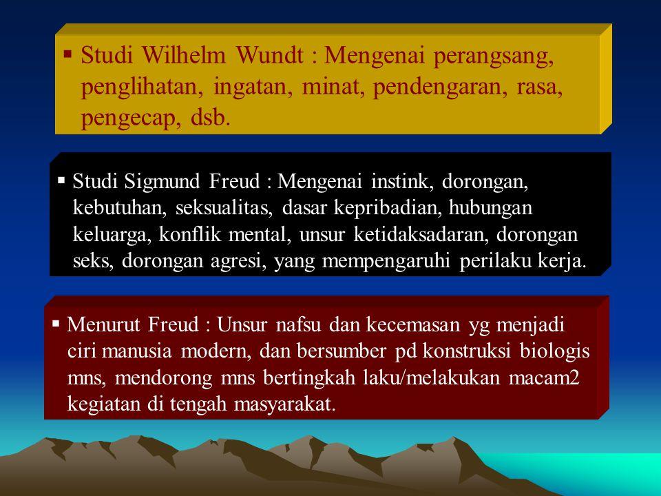 Studi Wilhelm Wundt : Mengenai perangsang,