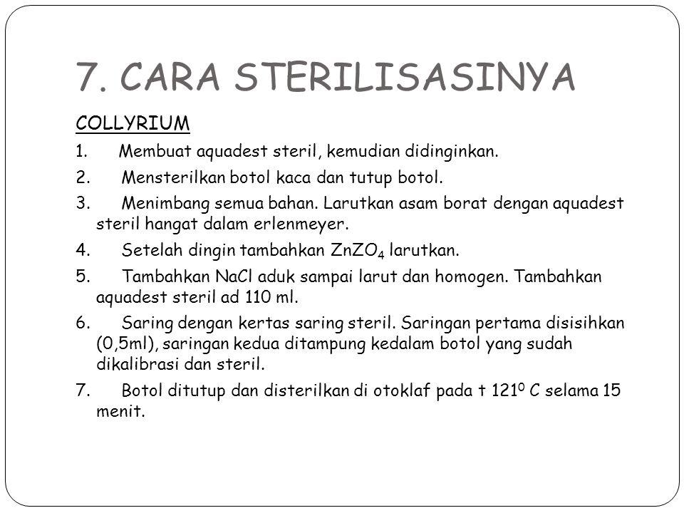 7. CARA STERILISASINYA COLLYRIUM