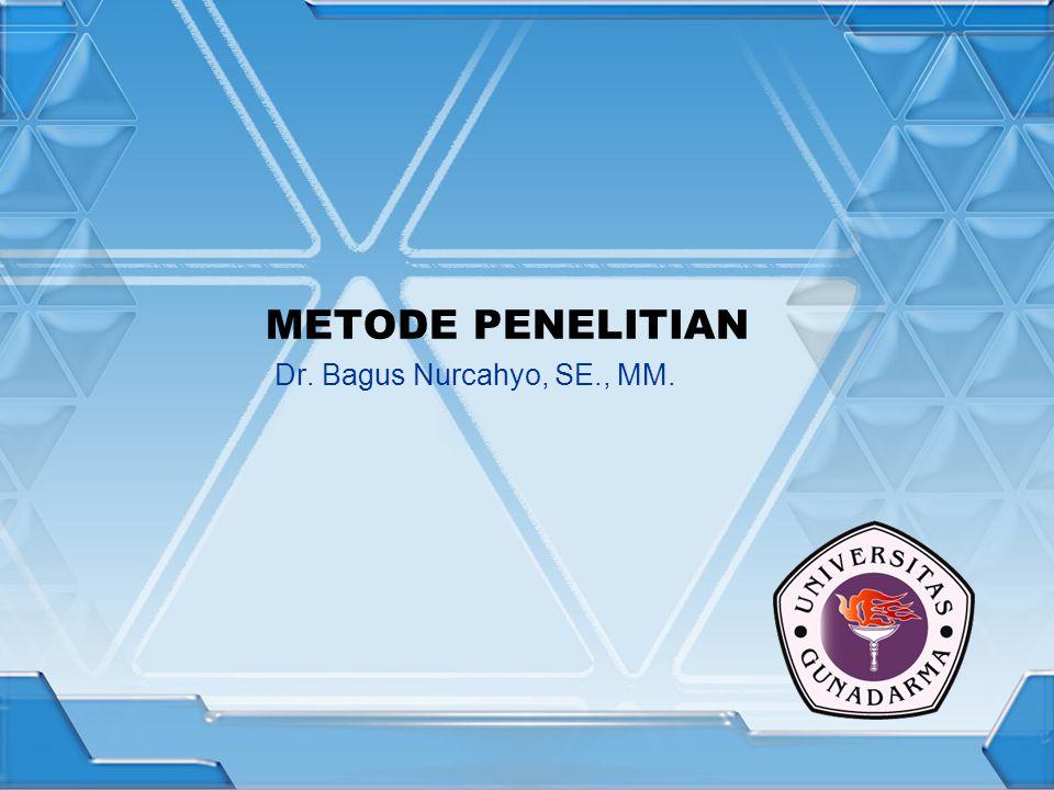 METODE PENELITIAN Dr. Bagus Nurcahyo, SE., MM.
