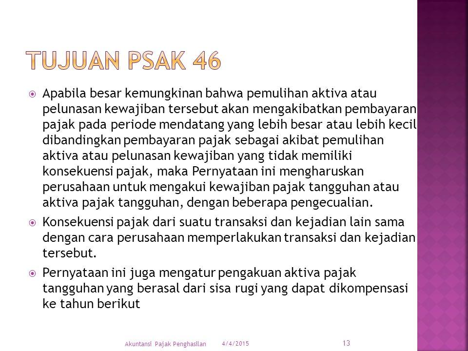 Tujuan PSAK 46