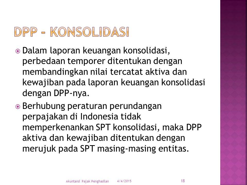 DPP - konsolidasi