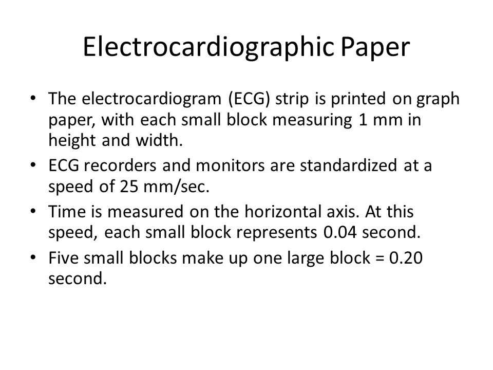 Electrocardiographic Paper