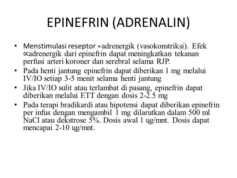 EPINEFRIN (ADRENALIN)