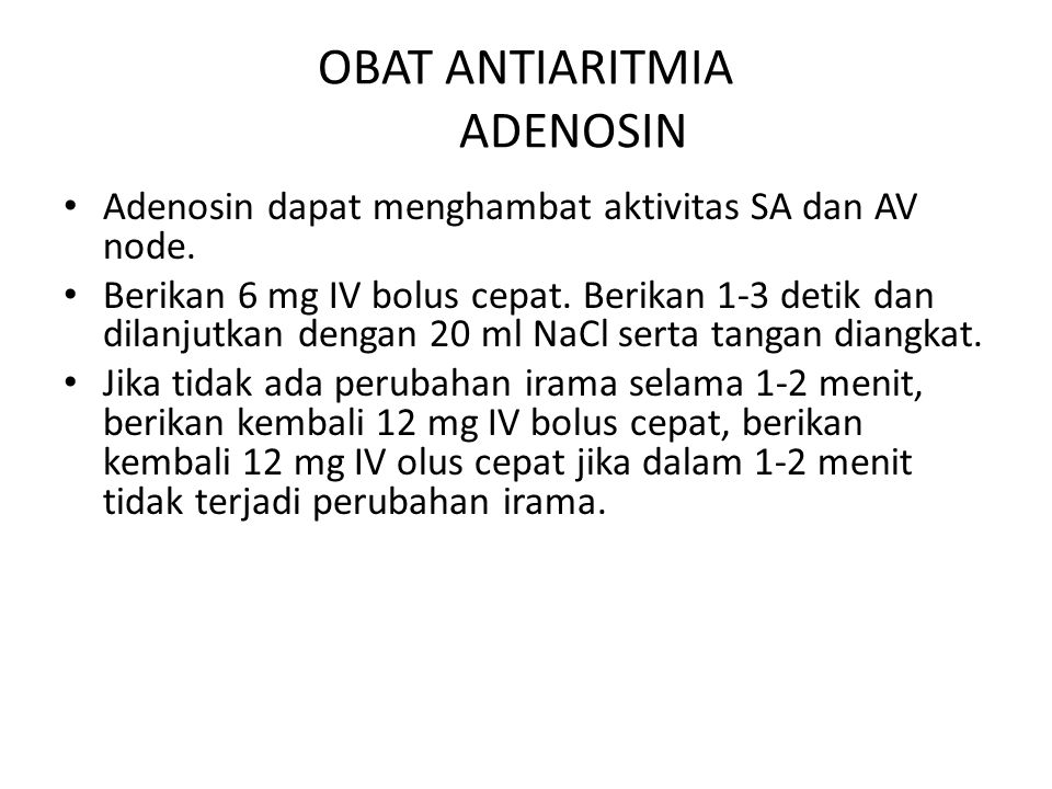 OBAT ANTIARITMIA ADENOSIN
