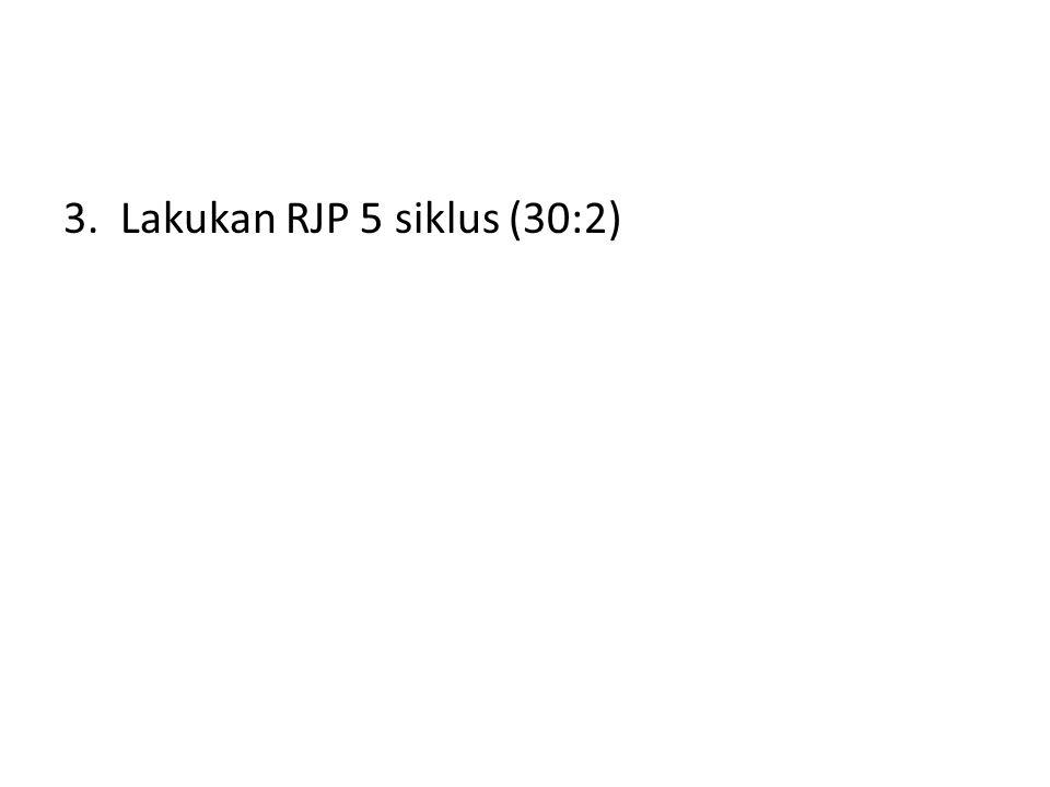 3. Lakukan RJP 5 siklus (30:2)