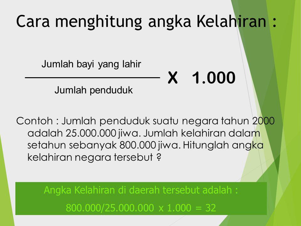 Cara menghitung angka Kelahiran :