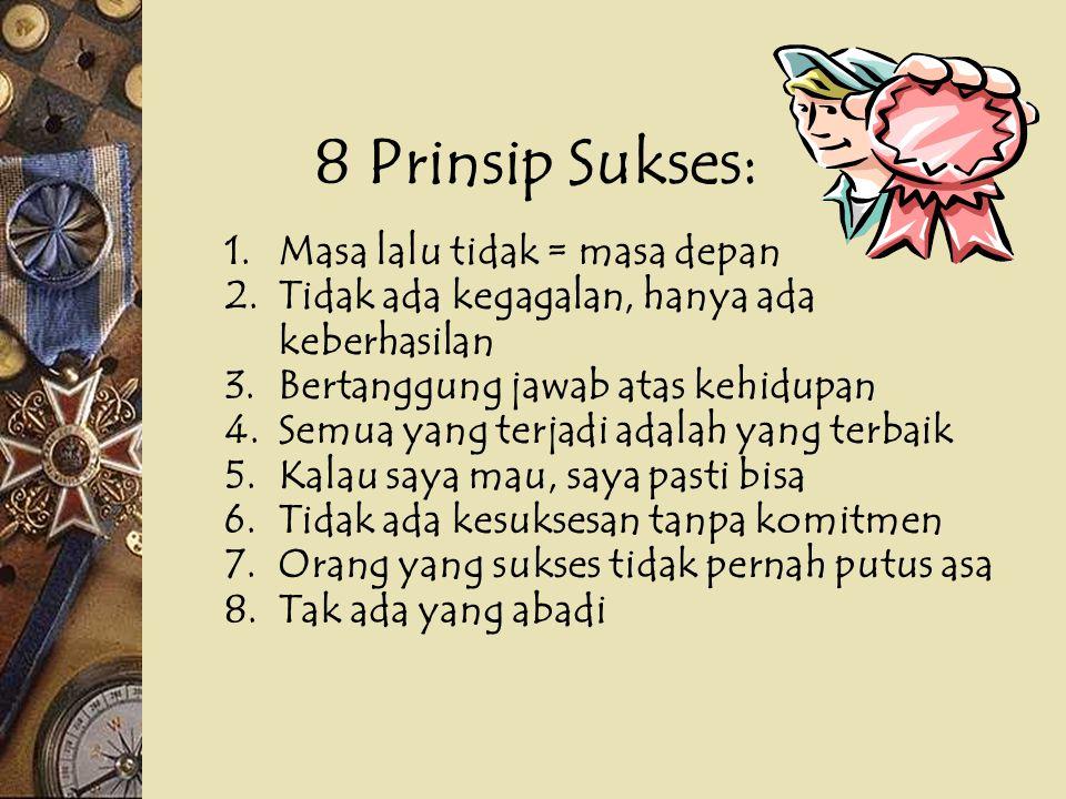 8 Prinsip Sukses: Masa lalu tidak = masa depan
