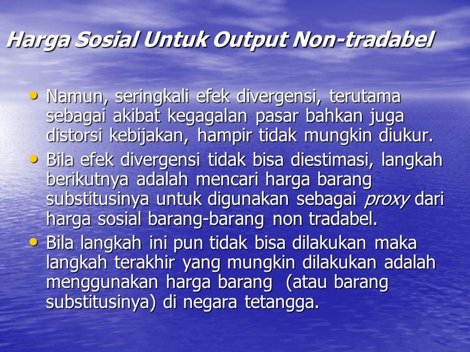 Harga Sosial Untuk Output Non-tradabel