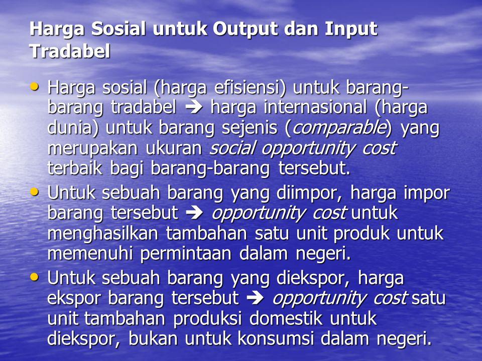Harga Sosial untuk Output dan Input Tradabel