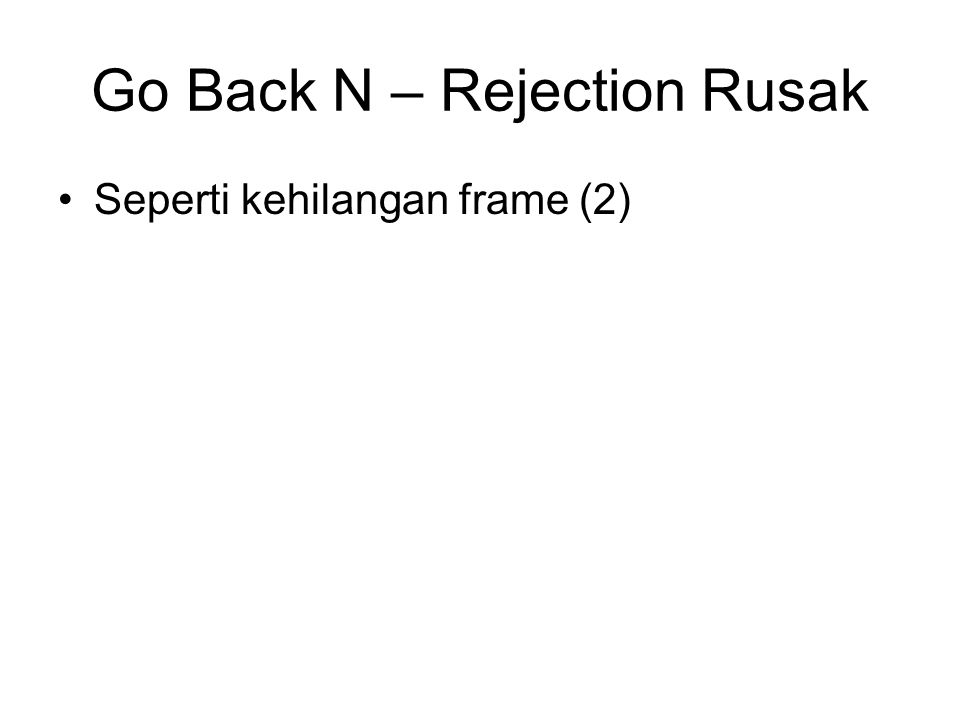Go Back N – Rejection Rusak