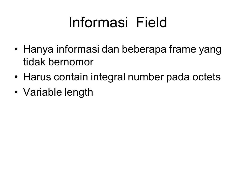 Informasi Field Hanya informasi dan beberapa frame yang tidak bernomor