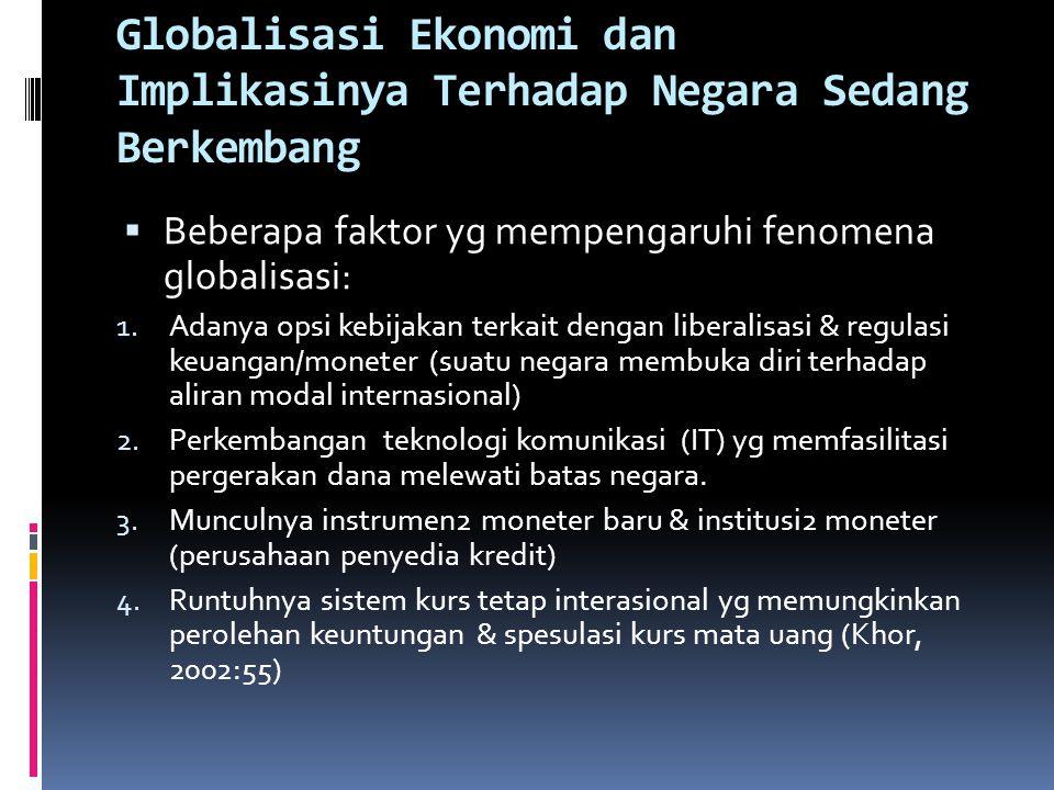 Globalisasi Ekonomi dan Implikasinya Terhadap Negara Sedang Berkembang