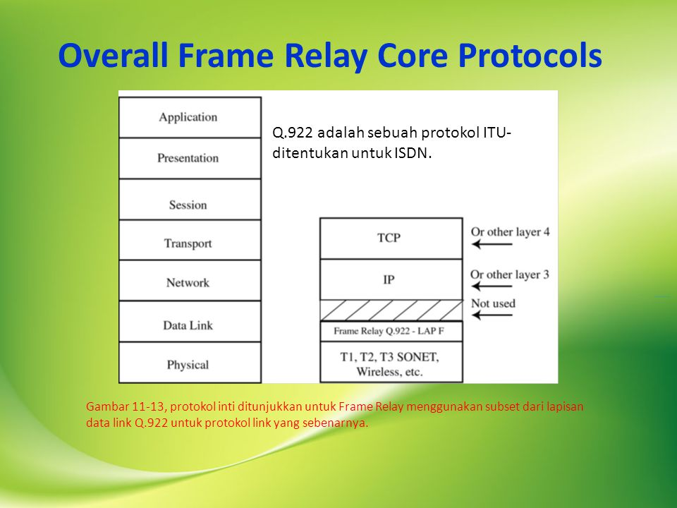 Overall Frame Relay Core Protocols