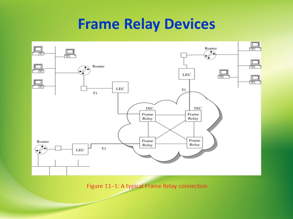 Frame Relay Devices Figure 11−1: A typical Frame Relay connection