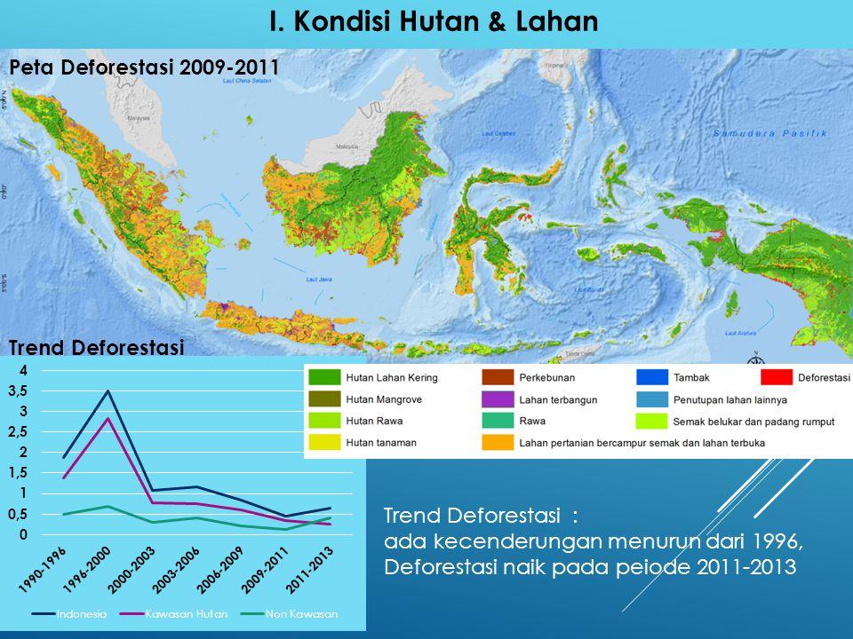 I. Kondisi Hutan & Lahan Peta Deforestasi 2009-2011 Trend Deforestasi