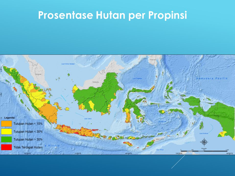 Prosentase Hutan per Propinsi