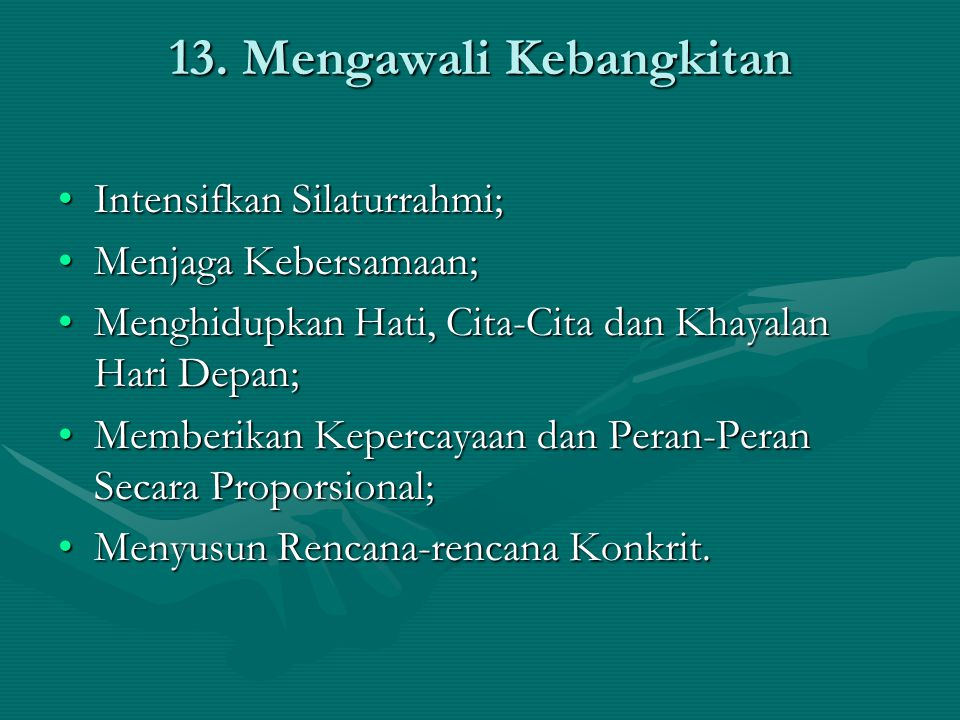 13. Mengawali Kebangkitan