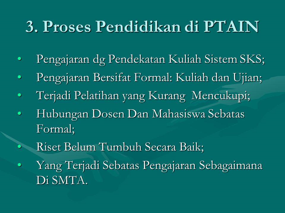 3. Proses Pendidikan di PTAIN