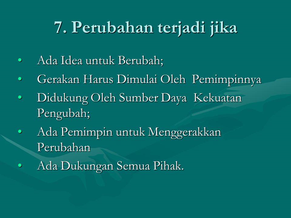 7. Perubahan terjadi jika