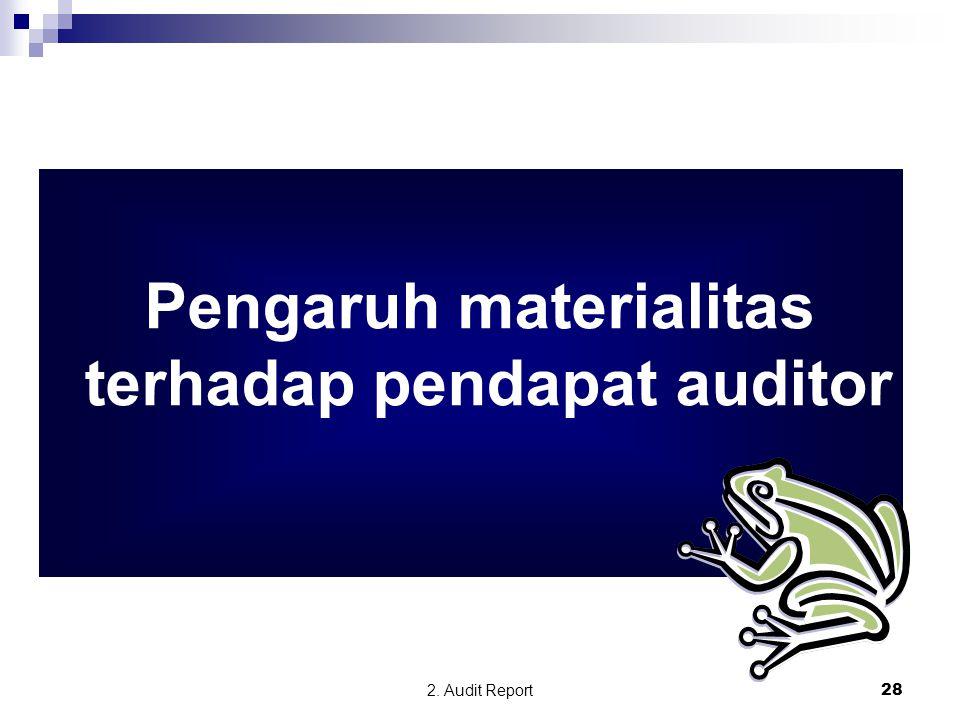 Pengaruh materialitas terhadap pendapat auditor