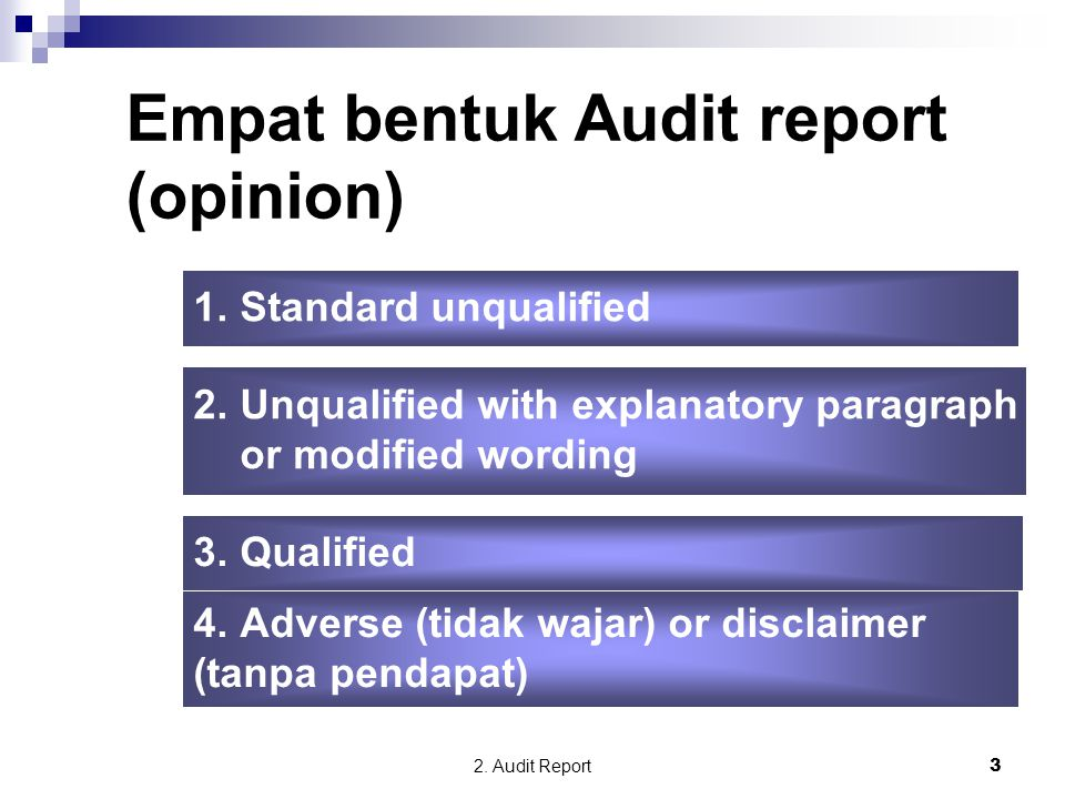 Empat bentuk Audit report (opinion)