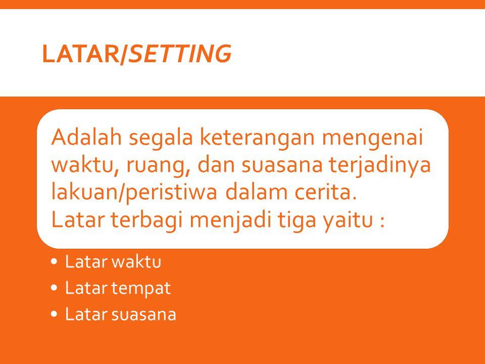 Latar/Setting