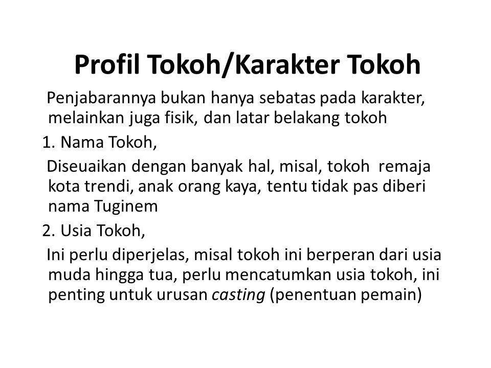Profil Tokoh/Karakter Tokoh