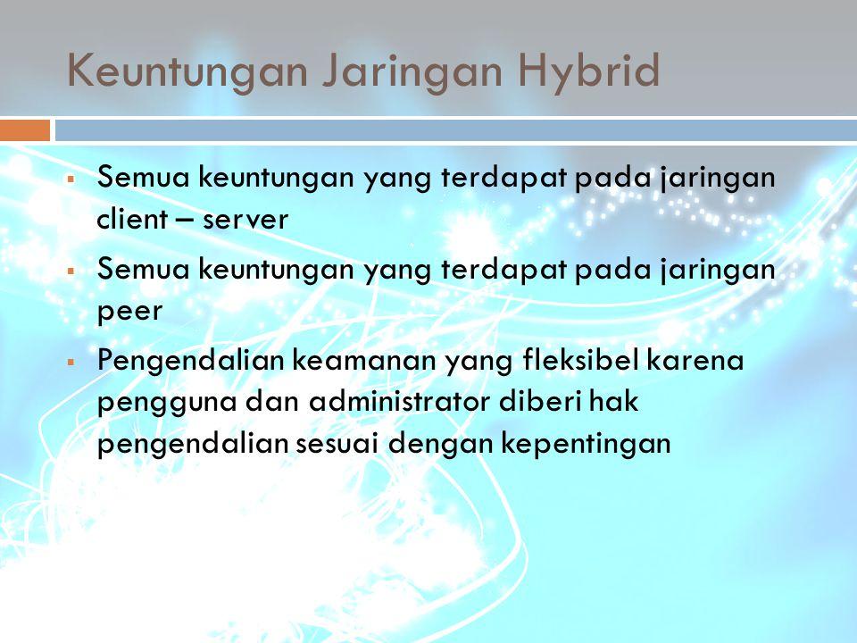 Keuntungan Jaringan Hybrid