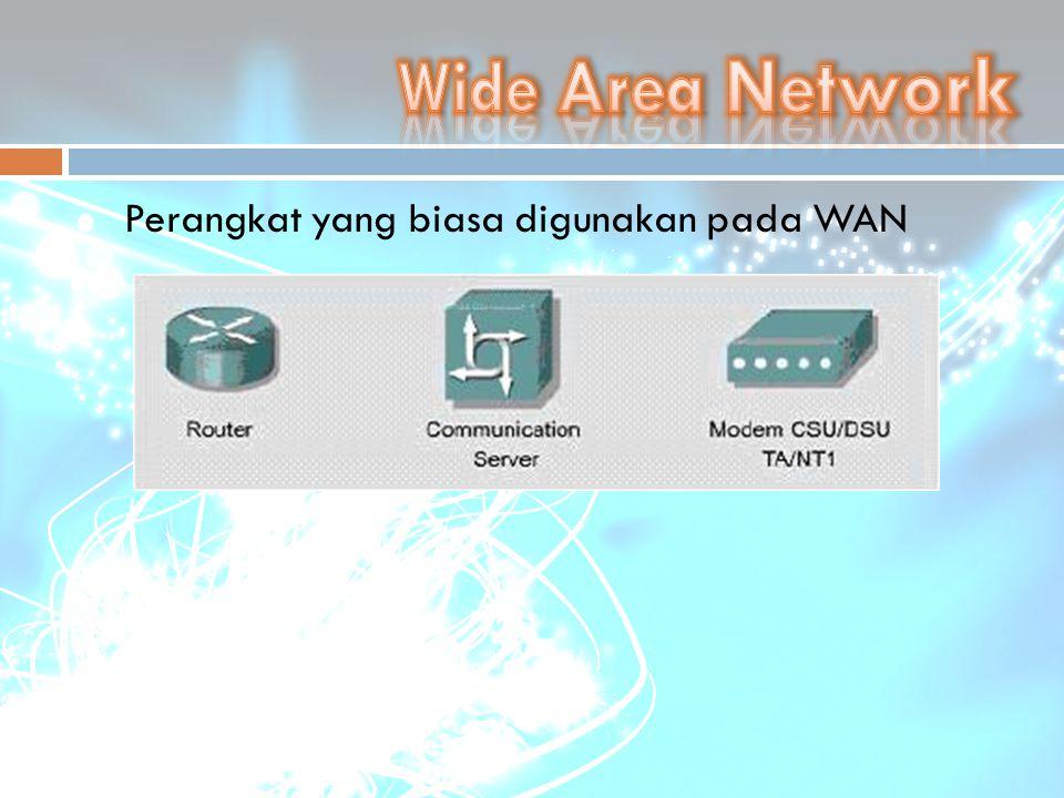 Wide Area Network Perangkat yang biasa digunakan pada WAN