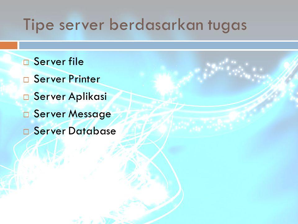 Tipe server berdasarkan tugas