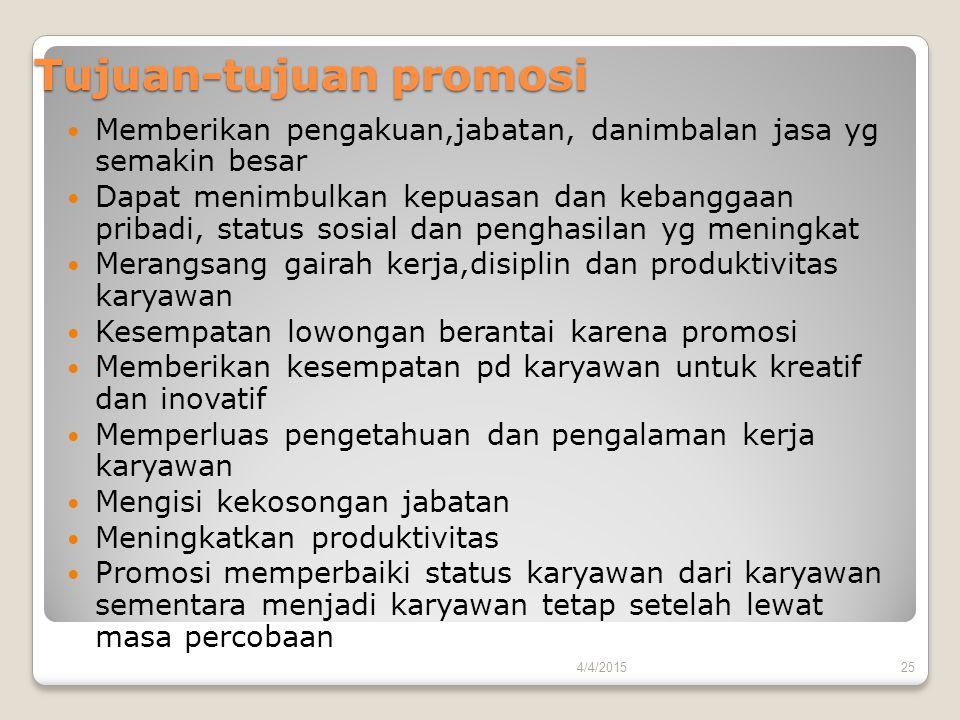 Tujuan-tujuan promosi