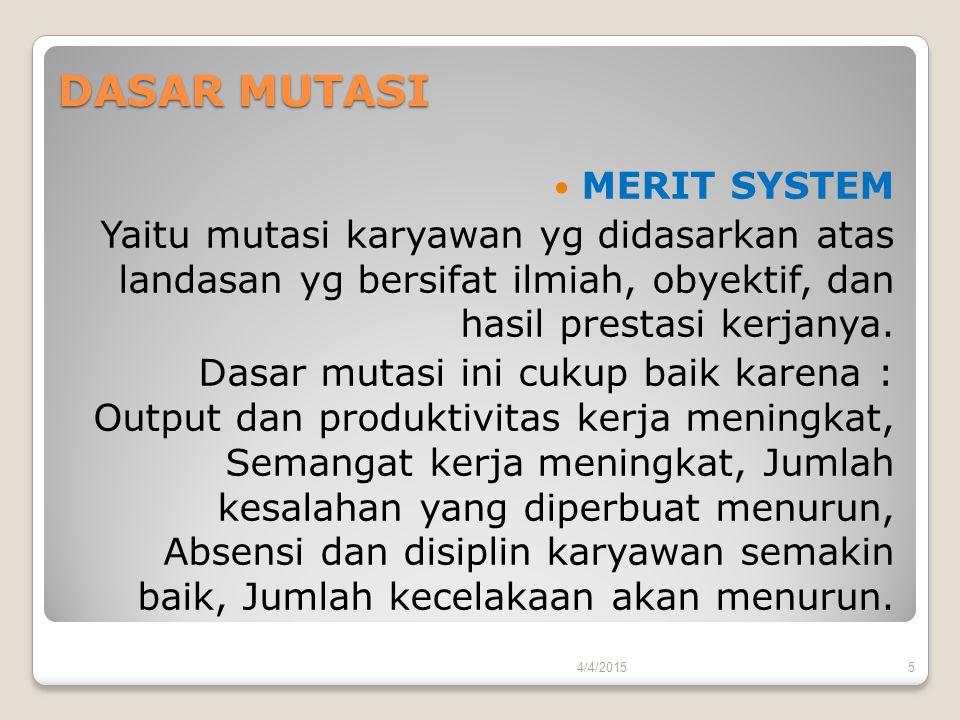 DASAR MUTASI MERIT SYSTEM