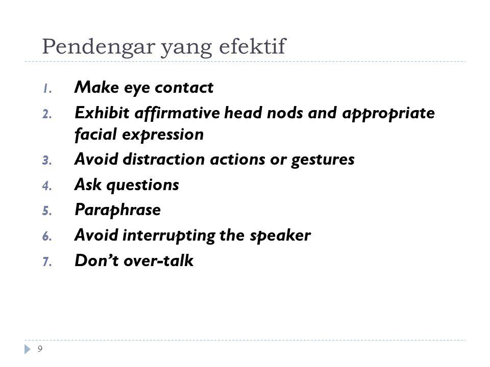 Pendengar yang efektif