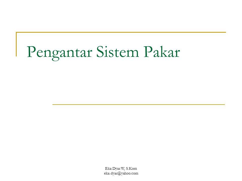 Pengantar Sistem Pakar