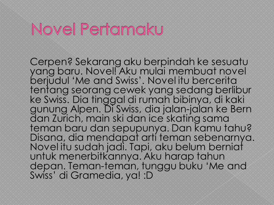 Novel Pertamaku