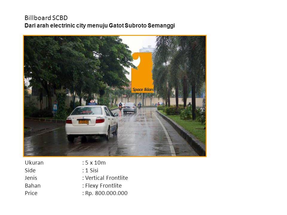 Billboard SCBD Dari arah electrinic city menuju Gatot Subroto Semanggi