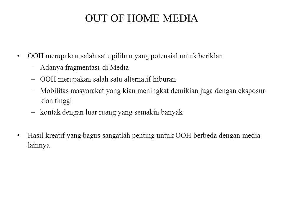 OUT OF HOME MEDIA OOH merupakan salah satu pilihan yang potensial untuk beriklan. Adanya fragmentasi di Media.