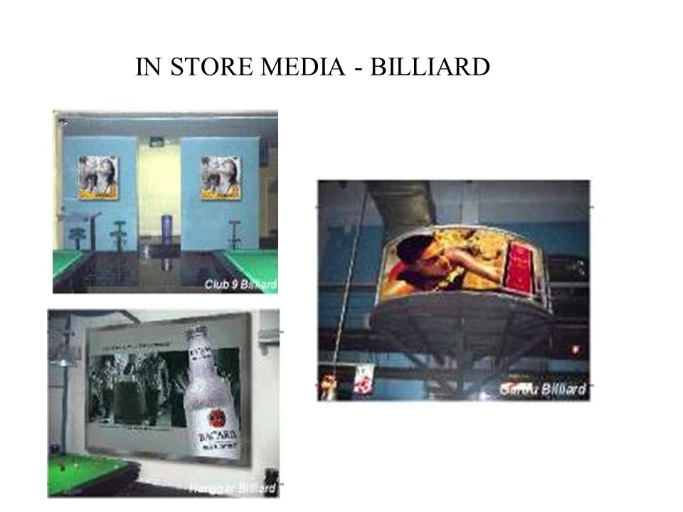 IN STORE MEDIA - BILLIARD