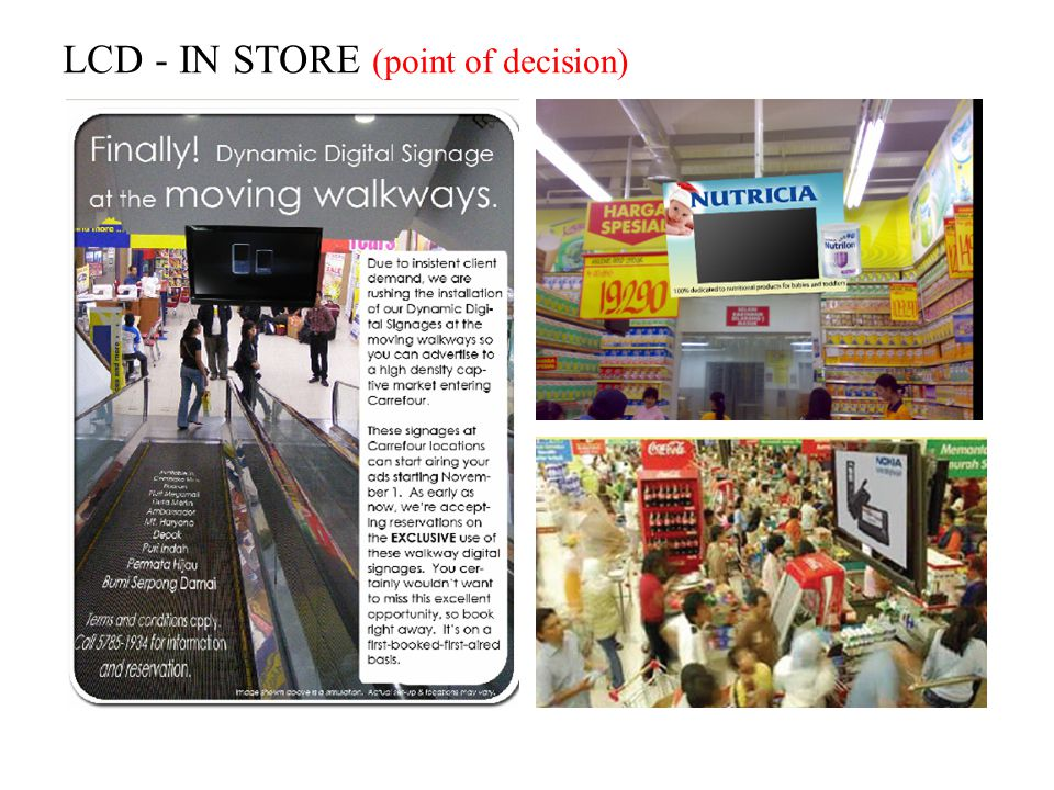 LCD - IN STORE (point of decision)