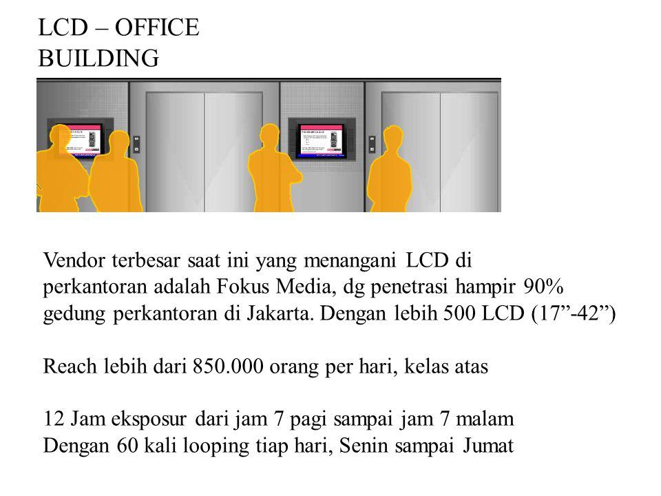 LCD – OFFICE BUILDING Vendor terbesar saat ini yang menangani LCD di